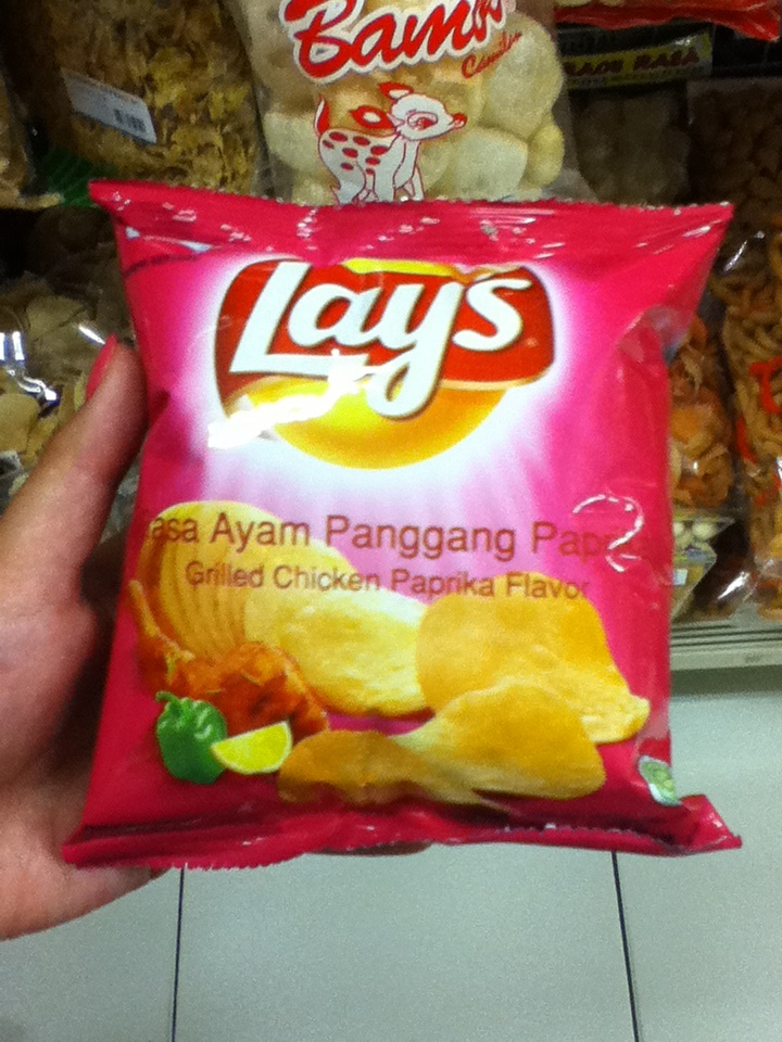 Grilled chicken paprika flavored Lays found in Indonesia