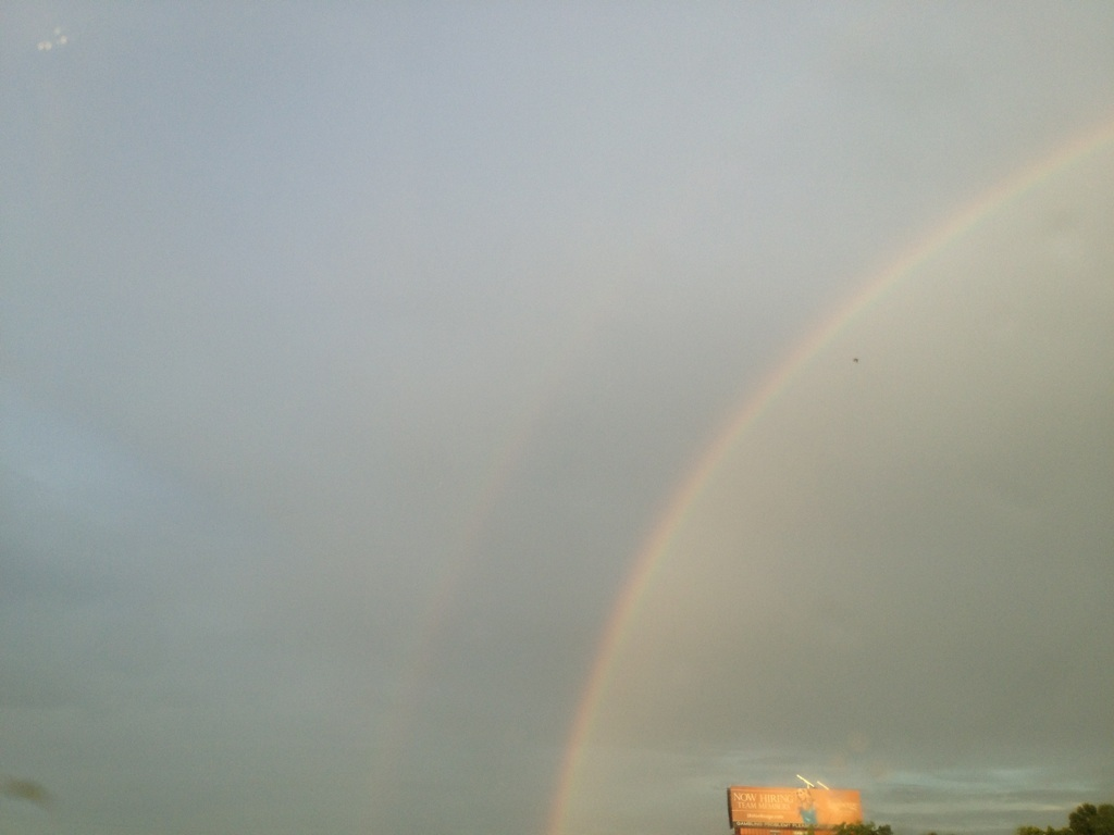Spotted a double rainbow yesterday.