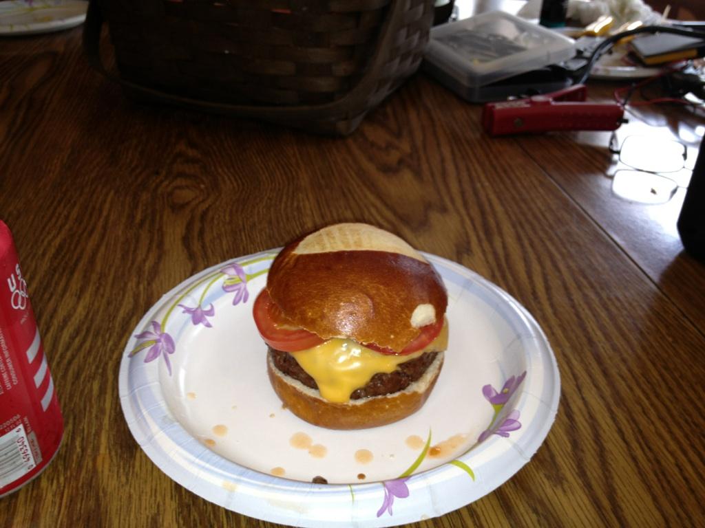 Pretzel burger!!!
