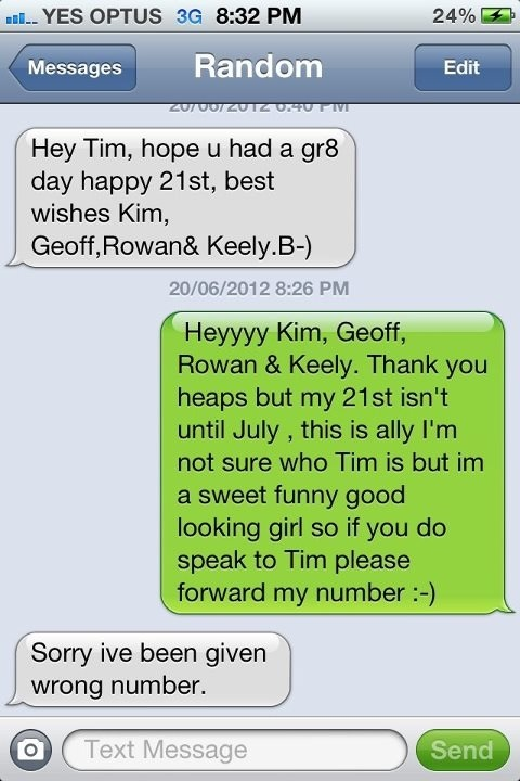 "Best ""Wrong Number"" Reply Ever"