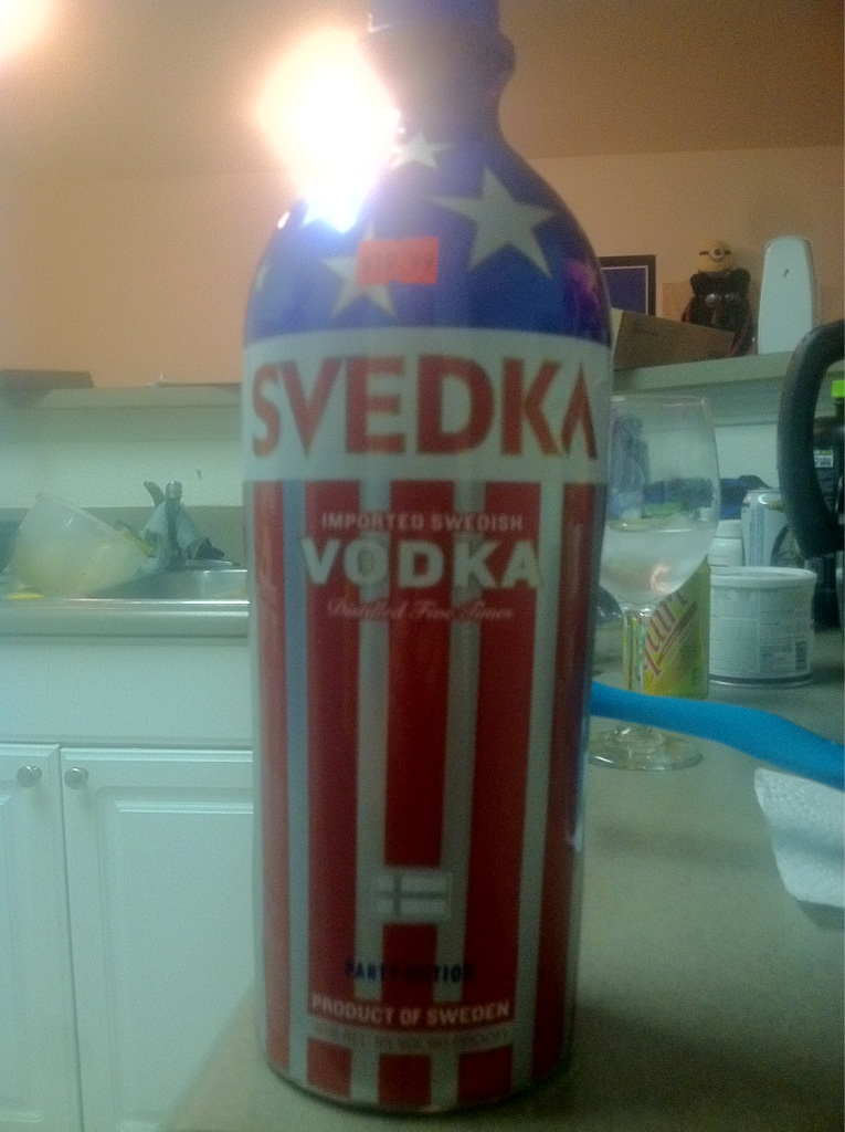 Swedish Vodka plastered with the U.S flag.. Only in Amurica
