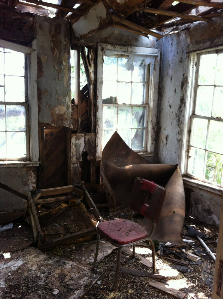 The room of a burnt house my friend and I found in Texas.