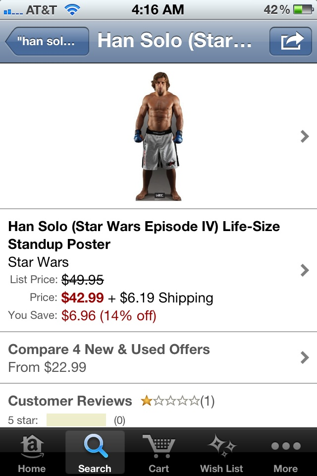 Han Solo looks a little different than I remember...